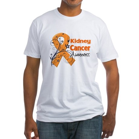 Kidney Cancer Awareness Fitted T-Shirt