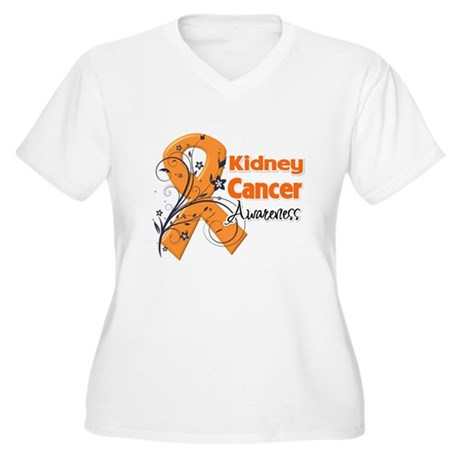 Kidney Cancer Awareness Women's Plus Size V-Neck T