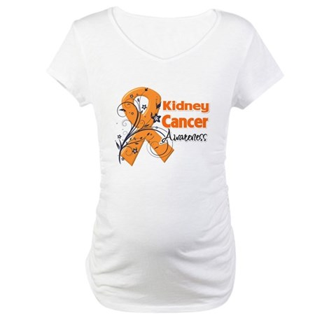 Kidney Cancer Awareness Maternity T-Shirt