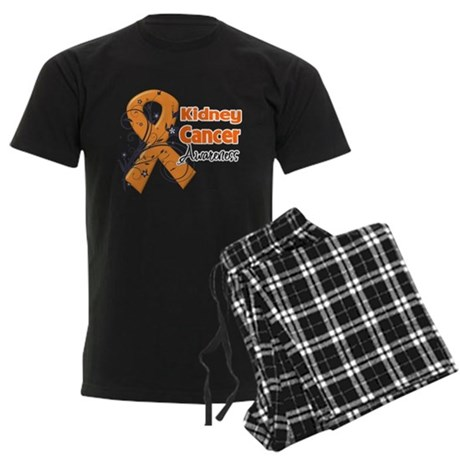 Kidney Cancer Awareness Men's Dark Pajamas
