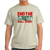 End The Greed Wall Street T-Shirt