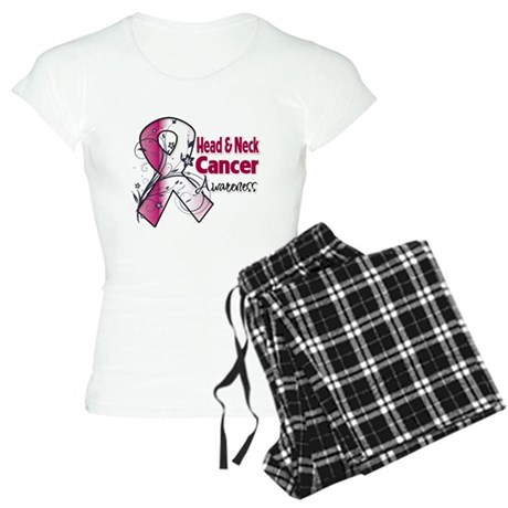 Head Neck Cancer Awareness Women's Light Pajamas