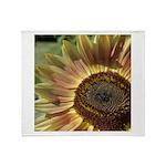 Autumn Sunflower Throw Blanket