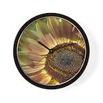 Autumn Sunflower Wall Clock