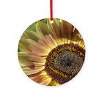 Autumn Sunflower Ornament (Round)