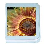 Autumn Sunflower baby blanket