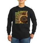 Autumn Sunflower Long Sleeve Dark T-Shirt
