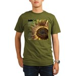 Autumn Sunflower Organic Men's T-Shirt (dark)
