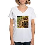 Autumn Sunflower Women's V-Neck T-Shirt