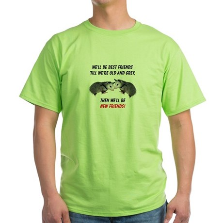 Old New Possum Friends Green T-Shirt