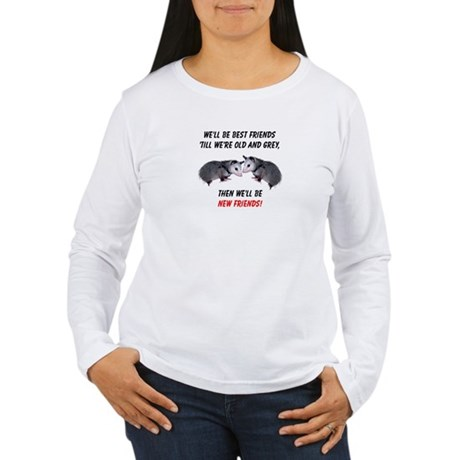 Old New Possum Friends Women's Long Sleeve T-Shirt