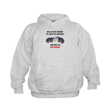 Old New Possum Friends Kids Hoodie