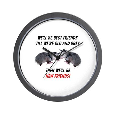 Old New Possum Friends Wall Clock