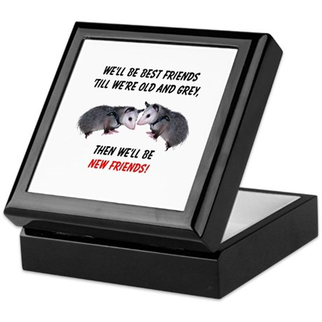 Old New Possum Friends Keepsake Box