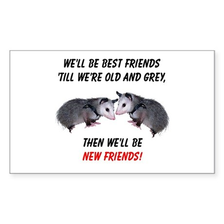 Old New Possum Friends Sticker (Rectangle 10 pk)