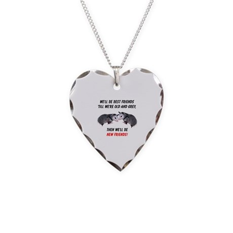 Old New Possum Friends Necklace Heart Charm