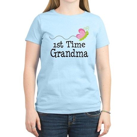 1st Time Grandma Butterfly Women's Light T-Shirt