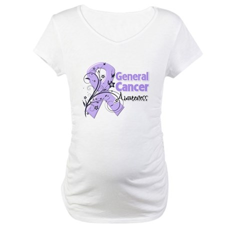 General Cancer Awareness Maternity T-Shirt