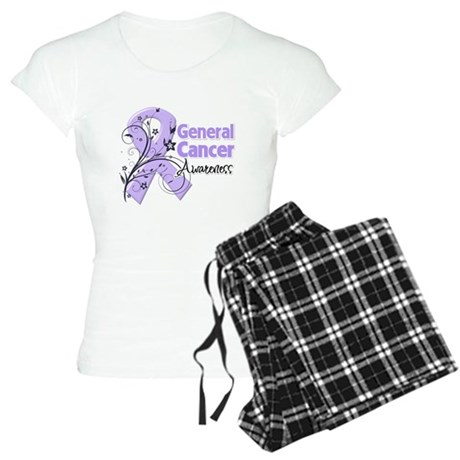 General Cancer Awareness Women's Light Pajamas