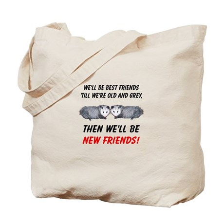 Old New Possum Friends Tote Bag