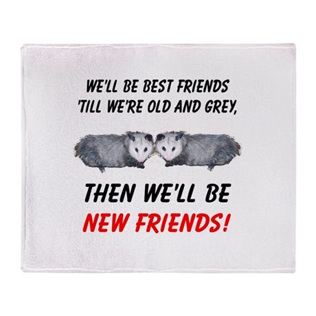 Old New Possum Friends Throw Blanket