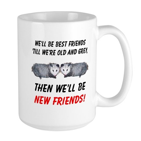 Old New Possum Friends Large Mug