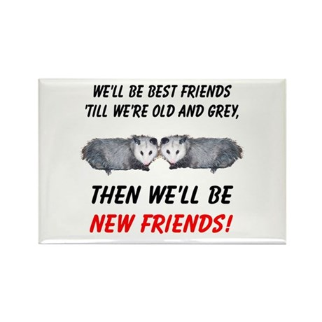 Old New Possum Friends Rectangle Magnet