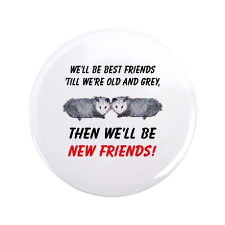 "Old New Possum Friends 3.5"" Button (100 pack)"