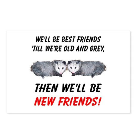 Old New Possum Friends Postcards (Package of 8)