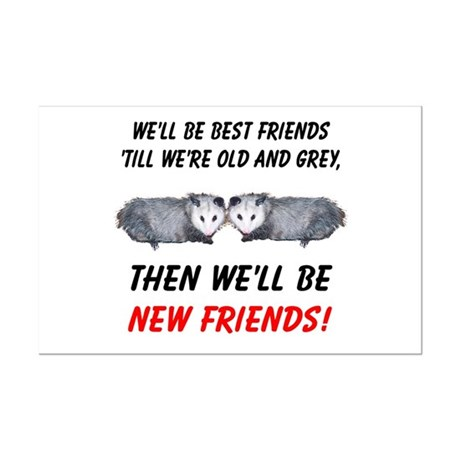 Old New Possum Friends Mini Poster Print