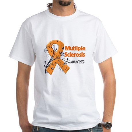 Multiple Sclerosis Awareness White T-Shirt