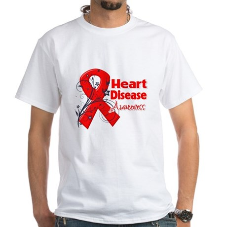 Heart Disease Awareness White T-Shirt