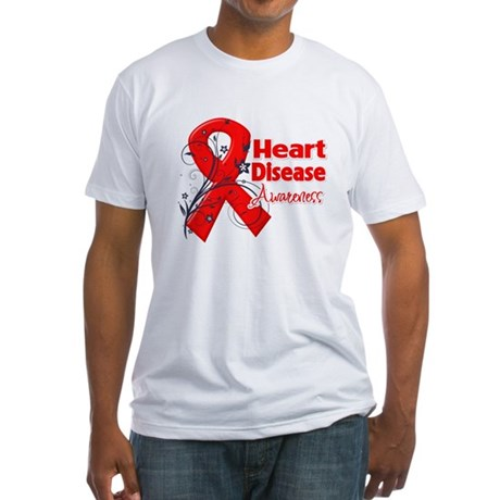 Heart Disease Awareness Fitted T-Shirt