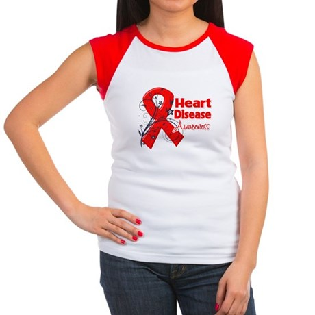 Heart Disease Awareness Women's Cap Sleeve T-Shirt