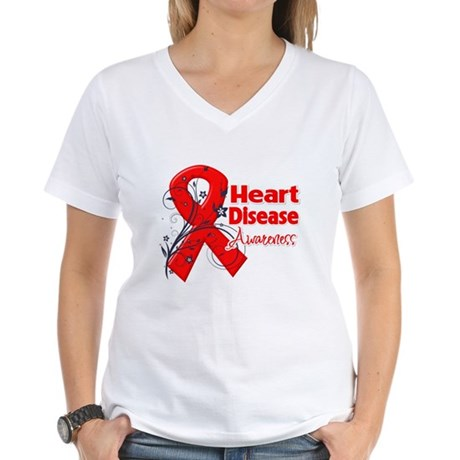 Heart Disease Awareness Women's V-Neck T-Shirt
