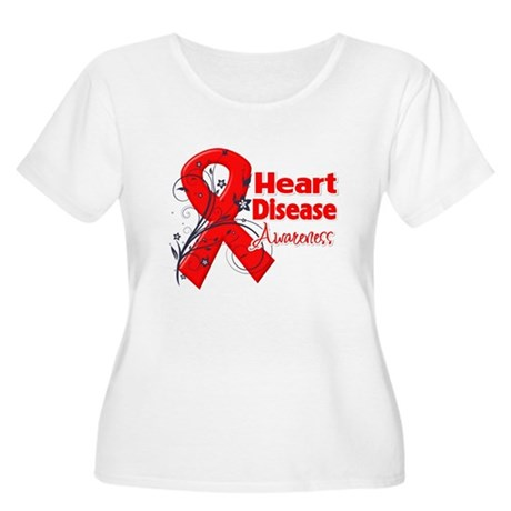Heart Disease Awareness Women's Plus Size Scoop Ne