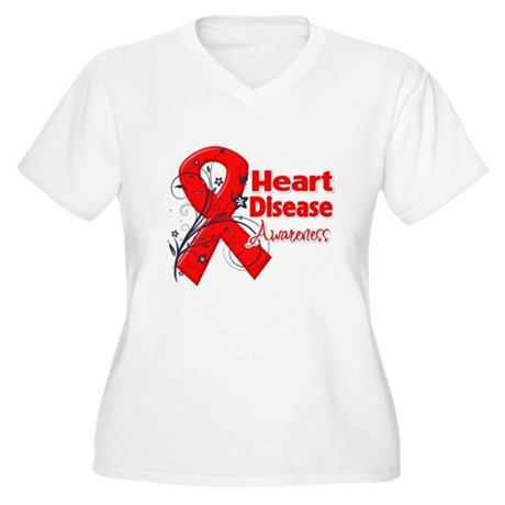 Heart Disease Awareness Women's Plus Size V-Neck T