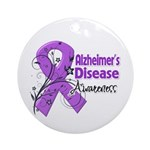 Alzheimers Disease Awareness Ornament (Round)