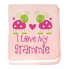 I Love Grammie Ladybug baby blanket