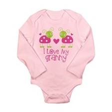 I Love Granny Ladybug Long Sleeve Infant Bodysuit