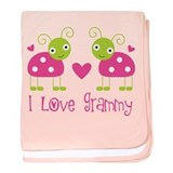 I Love Grammy Ladybug baby blanket