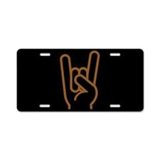 Metal Horns Aluminum License Plate