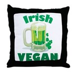 Irish Vegan Throw Pillow