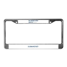 children/baby submarines License Plate Frame