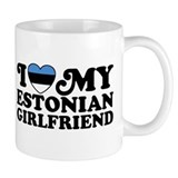 I Love My Estonian Girlfriend Coffee Mug