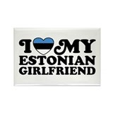 I Love My Estonian Girlfriend Rectangle Magnet