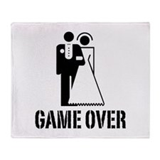 Game Over Bride Groom Wedding Throw Blanket