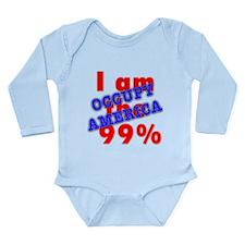 I am the 99% OCCUPY Long Sleeve Infant Bodysuit
