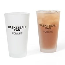 Basketball Fan For Life Drinking Glass