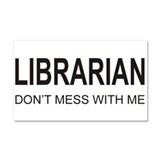 Librarian Car Magnet 20 x 12